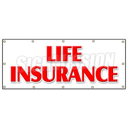 48  X120   Life Insurance Banner Sign Financial Income Quotes Terms Servicews