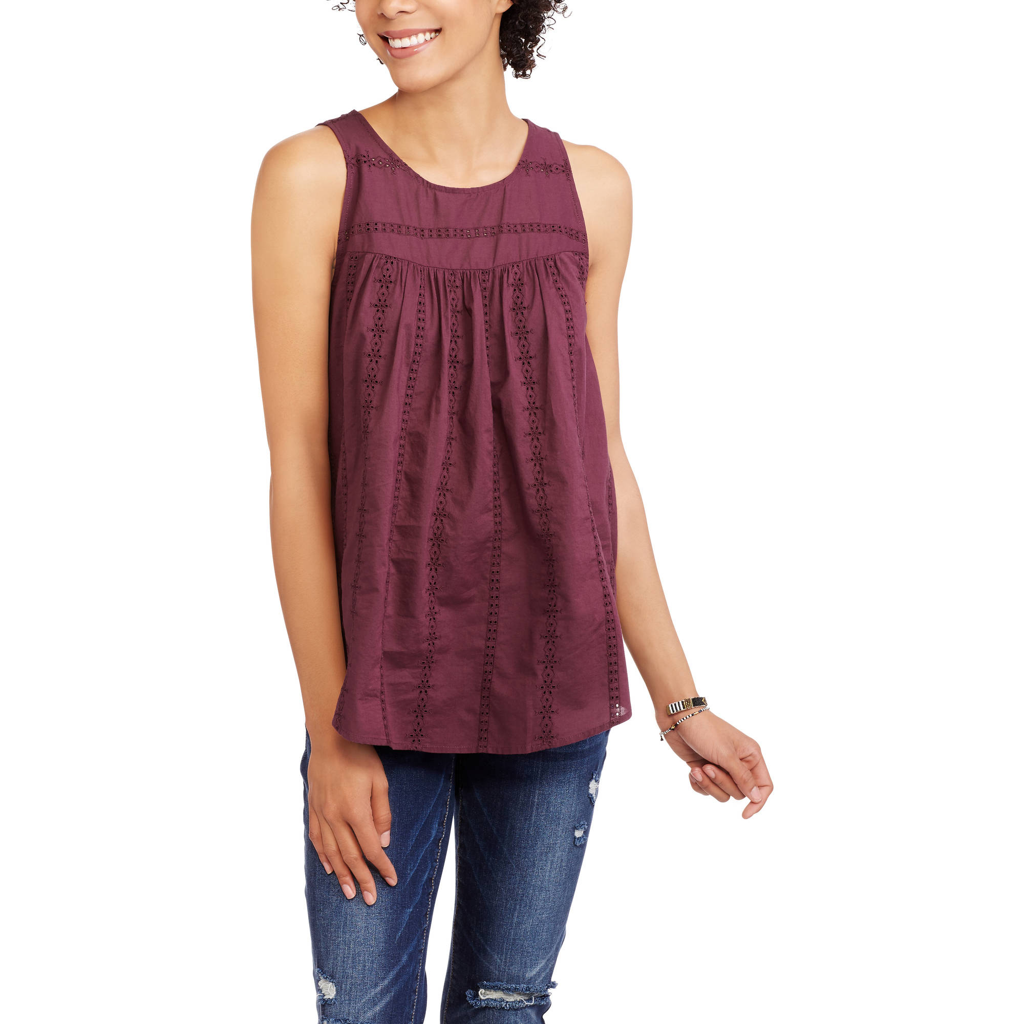 Women's Eyelet Sleeve Top