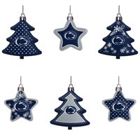 Penn State Nittany Lions Six-Pack Shatterproof Tree And Star Ornament Set - No Size