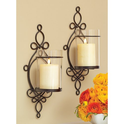 Better Homes And Gardens Ironwork Loop Wall Sconces 2pk Walmart Com