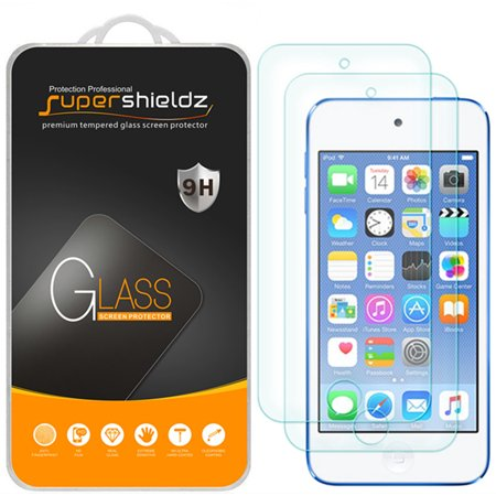 [2-Pack] Supershieldz for Apple iPod Touch (7th Gen 2019 Released / 6th & 5th Generation) Tempered Glass Screen Protector, Anti-Scratch, Anti-Fingerprint, Bubble Free (Ipod 5 Privacy Screen Protector)