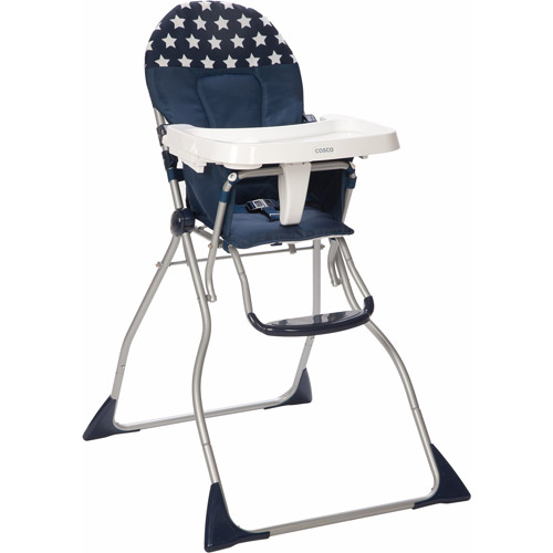 Cosco Flat Fold High Chair, Star Spangled