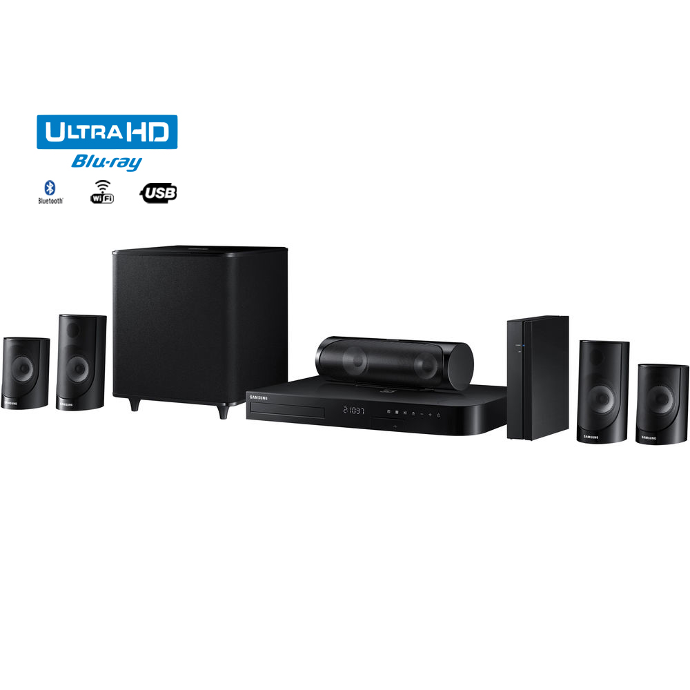 Samsung HT-J5500W 5.1ch 1000-Watt 3D Smart Blu-ray Home Theater System w  Bluetooth (Certified Refurbished) by Samsung