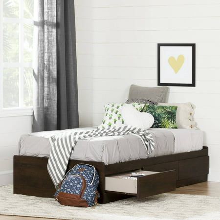 South Shore Fynn Twin Mates Bed with Storage Drawers, Multiple Finishes ()