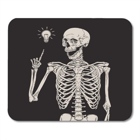 LADDKE Halloween Human Skeleton Has Idea Over Zombie Skull Vintage Etching Mousepad Mouse Pad Mouse Mat 9x10 inch - Halloween Face Painting Ideas Zombies