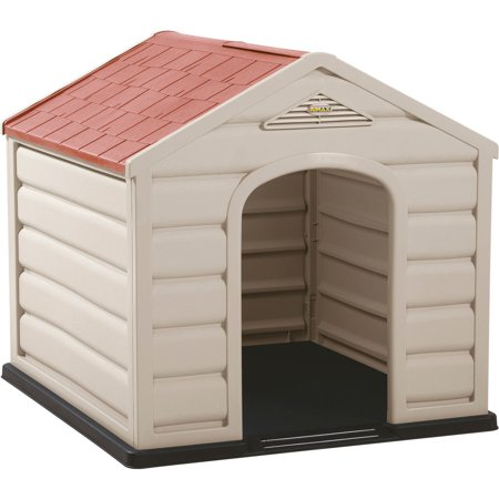Rimax Traditional Taupe Dog House for Small Breeds