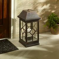 """San Felipe Estate 22"""" Solar Lantern - Bronze"""