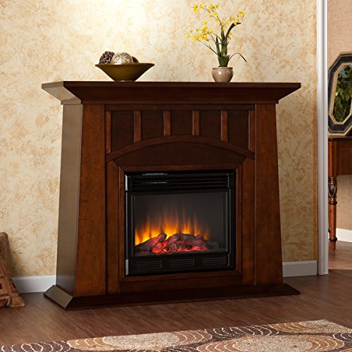 Bayard Electric Fireplace Harper Blvd Furniture with Adjustable Thermostat and Adjustable Flame