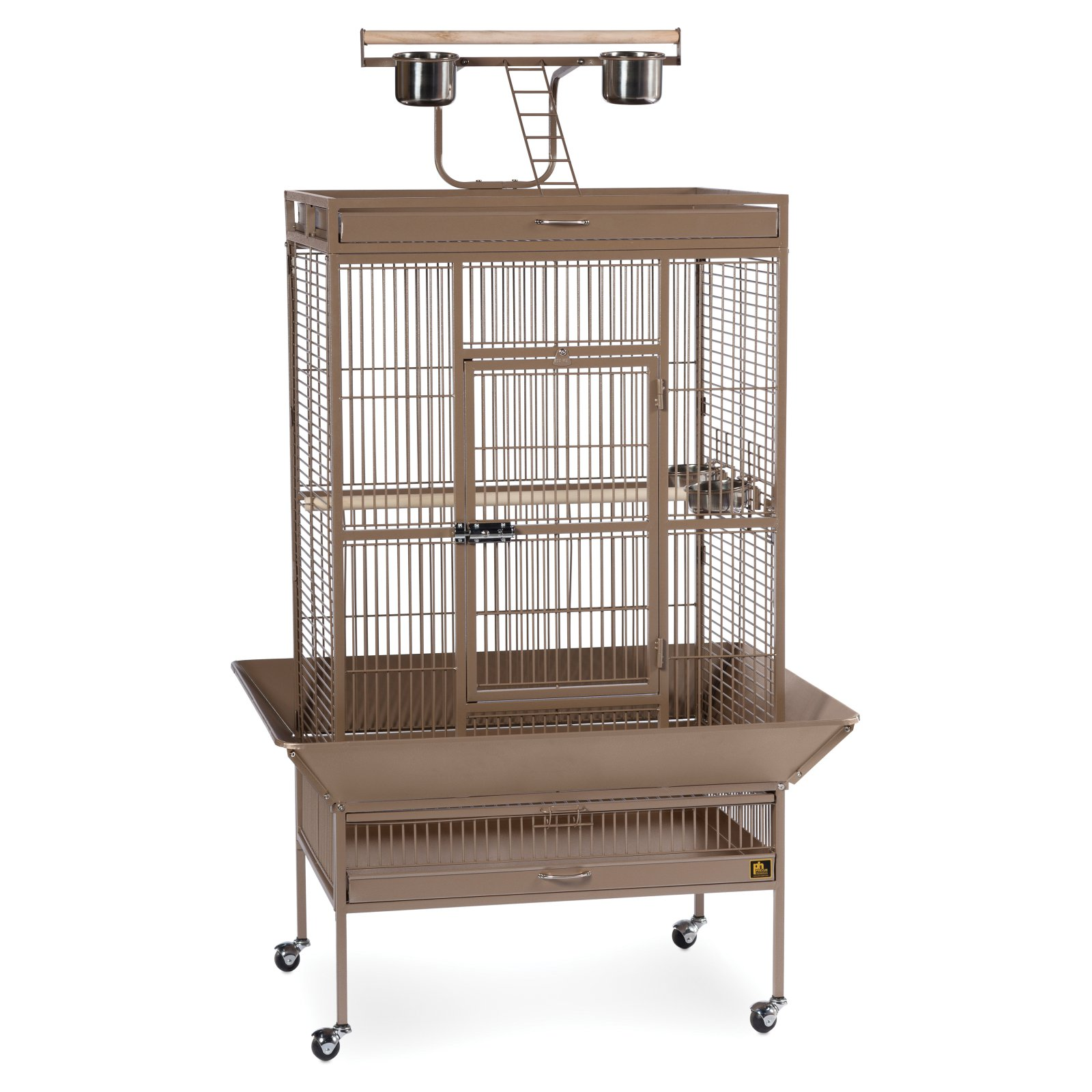 Prevue Pet Products Select Series Wrought Iron Parrot Cage - Coco Brown