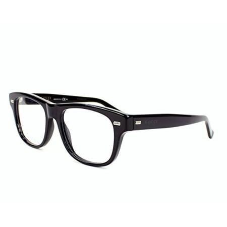 944fd54d7a Gucci Men s Optical Frame Acetate Black Frame Transparent Lens Non-Polarized  Glasses 50 0 - Walmart.com