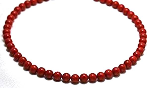 "Coral Necklaces 8 mm Coral Beads Beaded Necklace 17"" Long by GINO"