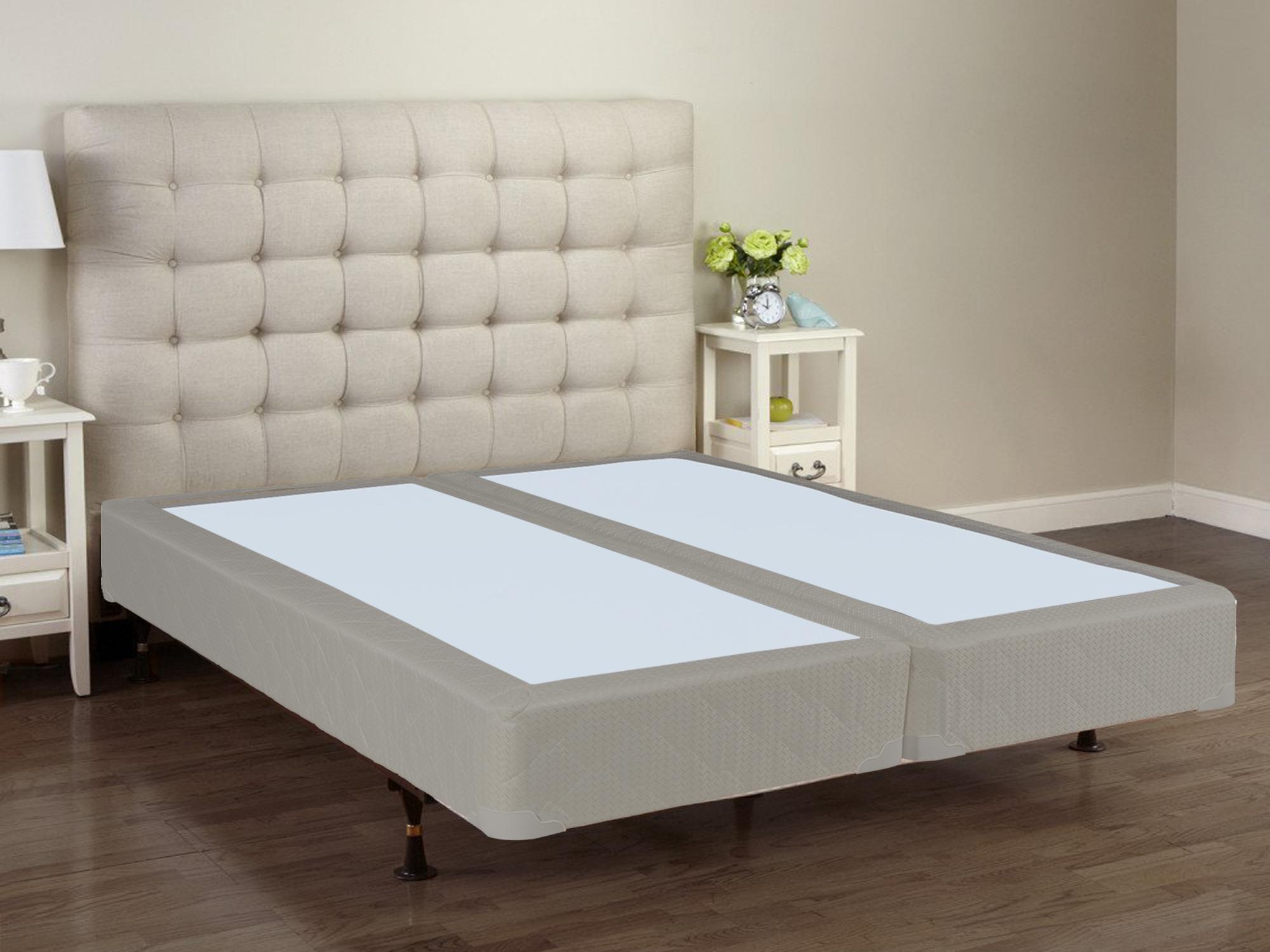 continental sleep 8 fully assembled semi flex split box spring foundation for mattress king. Black Bedroom Furniture Sets. Home Design Ideas