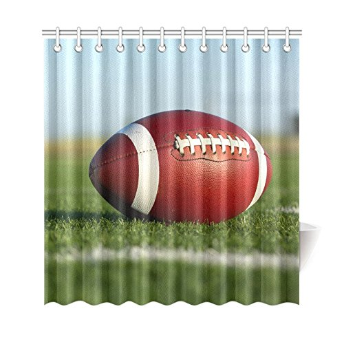 GCKG Sports Shower Curtain American Football Polyester Fabric