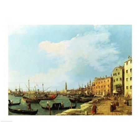 Posterazzi BALXAM65626LARGE The Riva Degli Schiavoni Poster Print by Giovanni Antonio Canaletto - 36 x 24 in. - Large - image 1 of 1