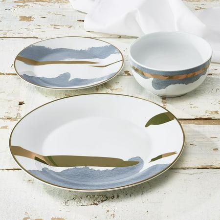 Simple Porcelain Dinner Set (Atelier Grey 12-Piece Porcelain Dinner)