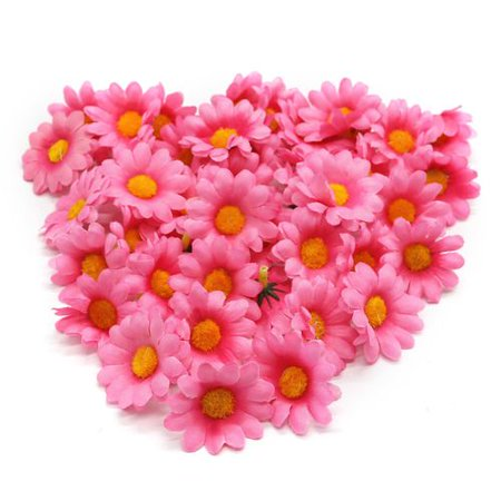 KABOER 100Pcs Artificial Gerbera Daisy Flower Wedding Decoration Sunflower Flower Heads - Daisy Decorations