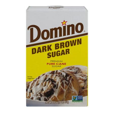 (4 Pack) Domino Dark Brown Sugar Pure Cane Sugar, 16.0 OZ (Fives Brown Sugar)
