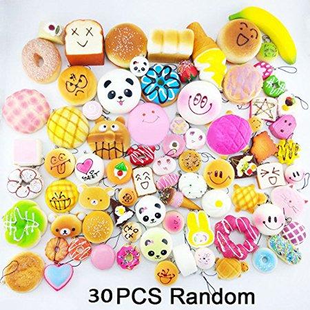 30Pcs Jumbo Medium Mini Random Squishy Soft Panda/Bread/Cake/Buns Phone Straps, 30Pcs Jumbo Medium Mini Random Squishy Soft Panda/Bread/Cake/Buns Phone Straps By Unbranded*
