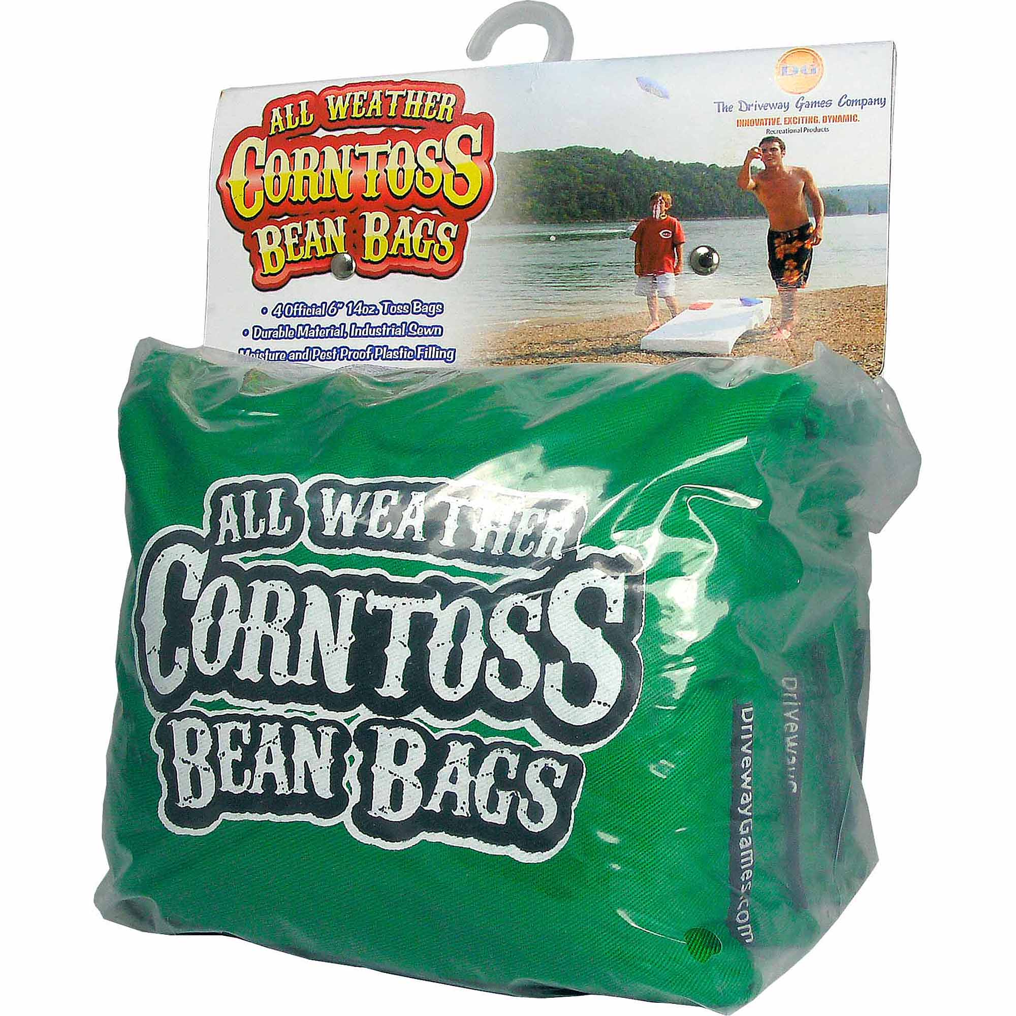 Driveway Games All Weather Corntoss Bean Bags, Green