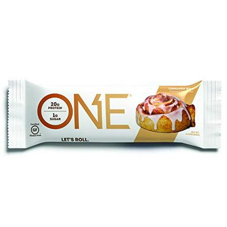One Protein Bar, Cinnamon Roll (Pack of 12) (Brn Bar)