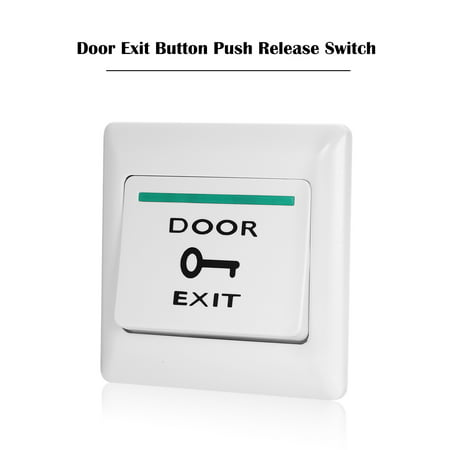 Exit Media Sensor - Door Exit Button Release Push Switch for Electronic Door Lock NO COM Lock Sensor Access Control System Emergency Alarm Trigger Switch Home Security Protection