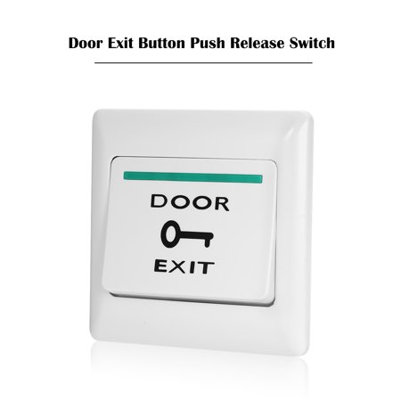 Door Exit Button Release Push Switch for Electronic Door Lock NO COM Lock Sensor Access Control System Emergency Alarm Trigger Switch Home Security Protection Access Control Systems Llc