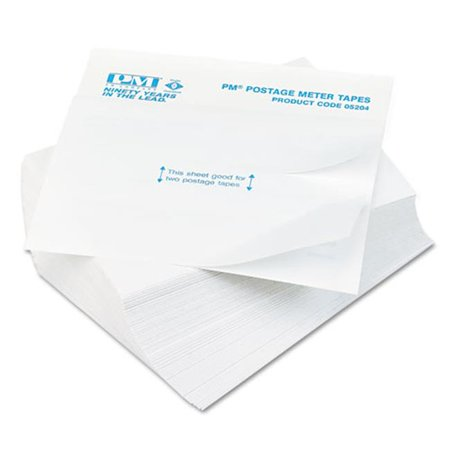 Pmc 05204 Postage Meter Double Tape Sheets, 4 x 5.5 in.