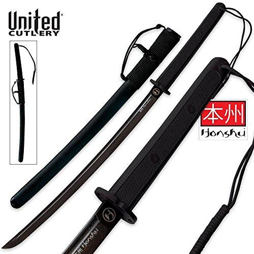 United Cutlery UC Honshu Damascus Wakizashi Sword, Black