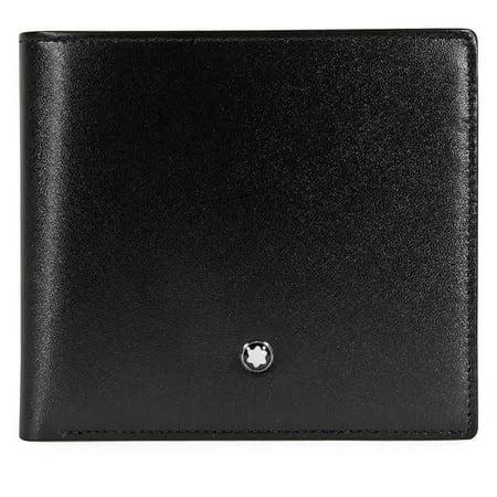 ce9b70c0bd942 Montblanc - MontBlanc Meisterstuck Black Leather Wallet 7164 - Walmart.com