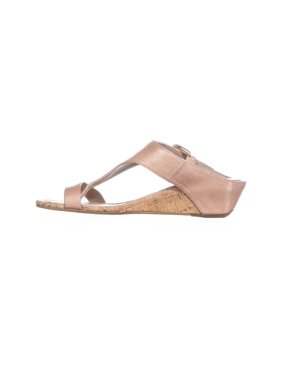 Donald J Pliner Womens Doli4 Leather Open Toe Casual Slide, Teak , Size 8.0