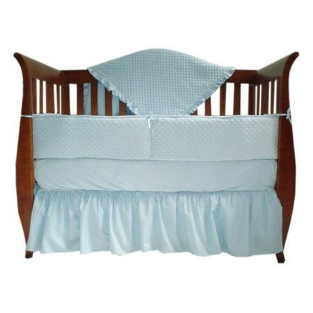 American Baby Company Heavenly Soft Minky dot 4-Piece Crib Bedding Set, White