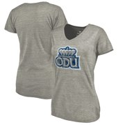 Old Dominion Monarchs Fanatics Branded Women's Classic Primary Tri-Blend V-Neck T-Shirt - Heathered Gray