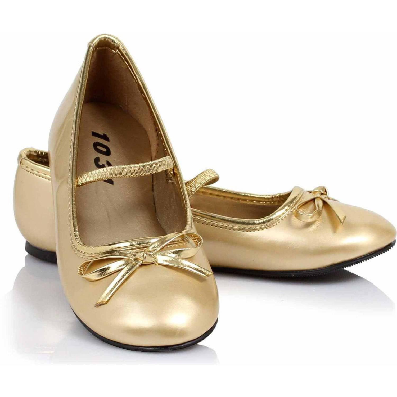 Ballet Flat Gold Shoes Girls' Child