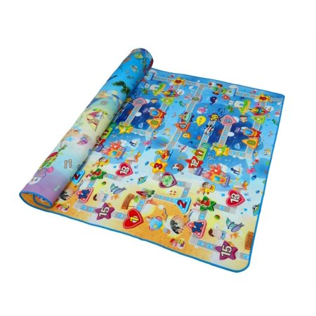 Extra Large Baby Crawling Mat Playmat Foam Blanket Rug 79 x 71 x 0.2 Inches - Crawling Man