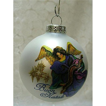 Buon Natale Ornament.Glass Buon Natale Bulb Merry Christmas To You Italian Italy Christmas Tree Ornament By On Holiday Ship From Us