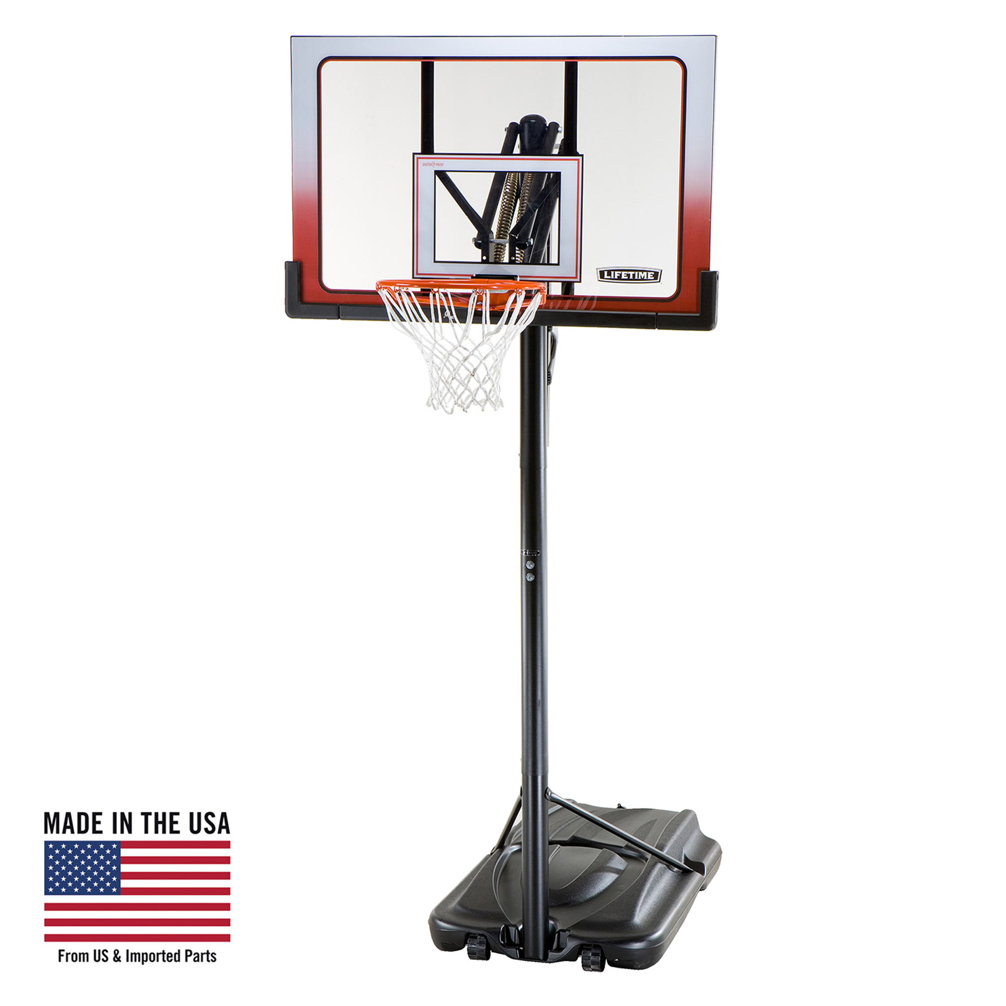 """Lifetime 52"""" Shatterproof Portable One Hand Height Adjustable Basketball System, 1558 by Lifetime"""