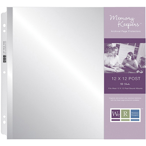 Page Protector 12X12 10Pk Post Bound