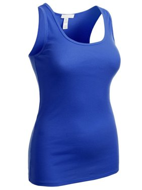 71fc198e233ac Product Image Essential Basic Women s Active Racerback Ribbed Tank Top  Shirt - Junior and Plus Sizes