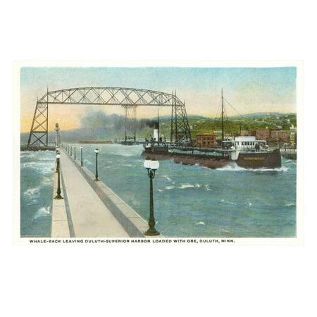 Iron Ore Boat, Duluth, Minnesota Print Wall (Hematite Iron Ore)