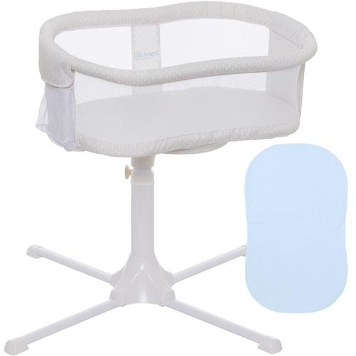 Halo Swivel Sleeper Bassinet Essentia Series Honeycomb with Blue Fitted Sh by HALO