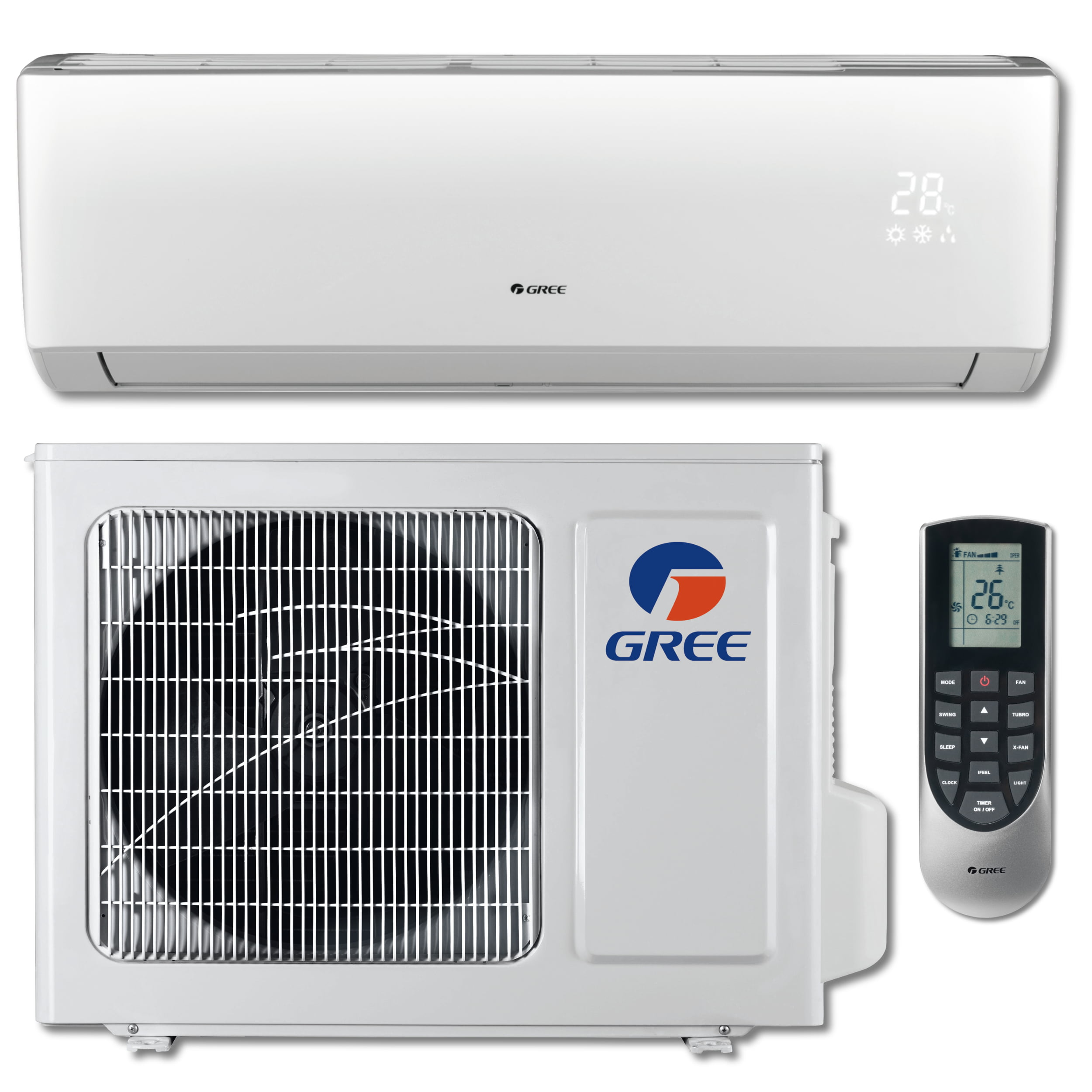 GREE VIREO+ 12,000 BTU Cool   12,200 BTU Heat Ductless Mini Split Air Conditioning and Heating... by Gree