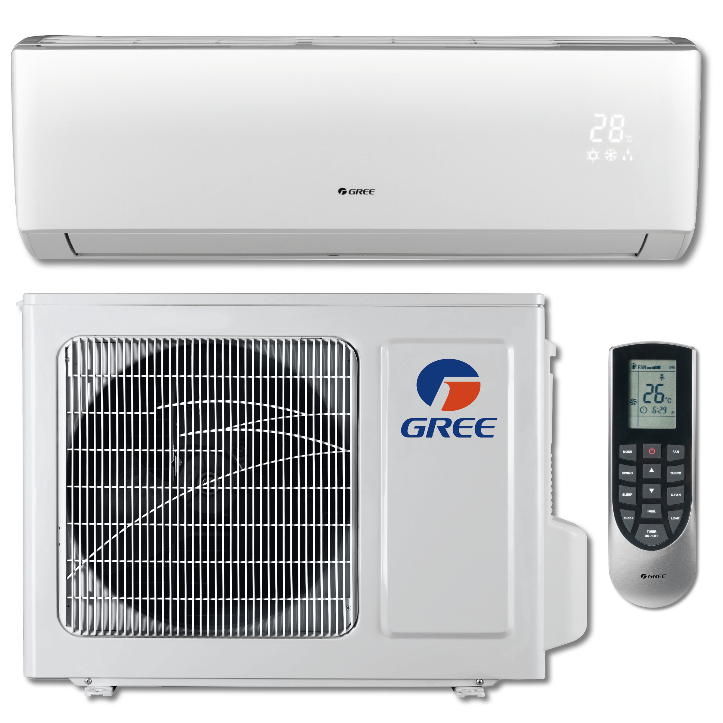 GREE VIREO+ 9,000 BTU Cool / 11,000 BTU Heat Ductless Mini Split Air Conditioning and Heating System (208-230V / 60Hz)
