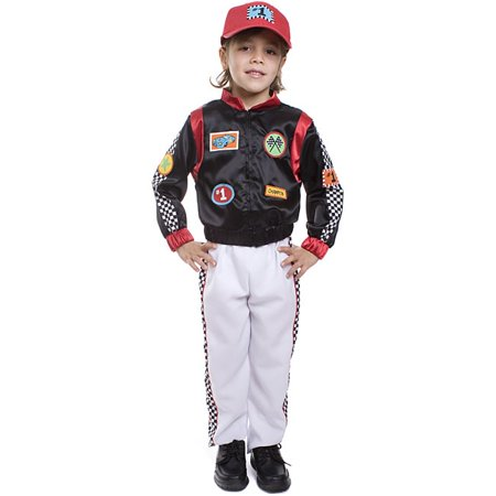 Race Car Driver Halloween Costumes (Dress Up America  Boy's 3-piece Race Car Driver)