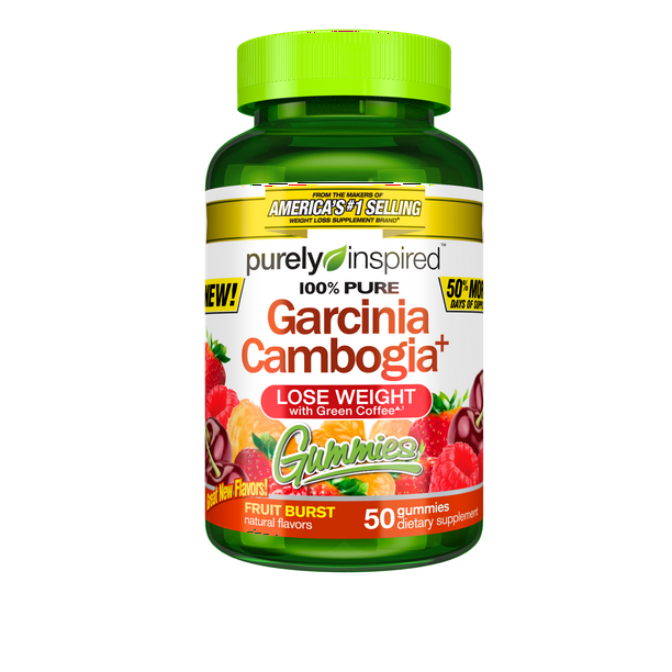 100 Garcinia Cambogia Gummies Weight Loss Supplements With Green Coffee Extract Natural Flavours Fruit Burst 50 Count Walmart Com Walmart Com