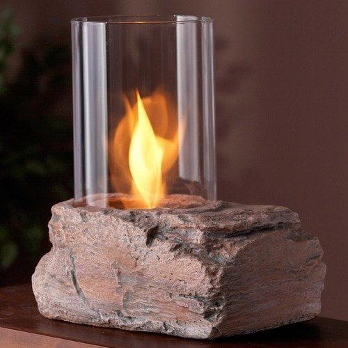 Real Flame Ledgerock Tabletop Fireplace