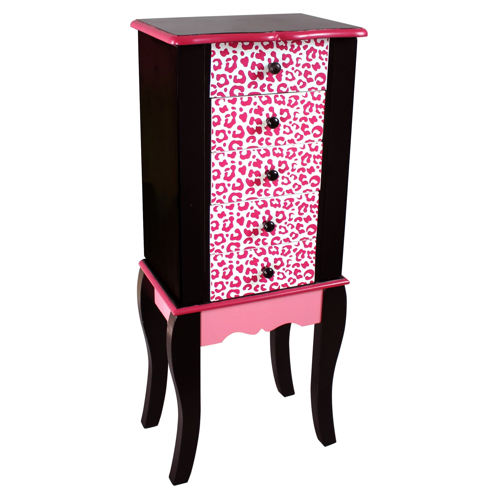 Teamson Kids Fashion Prints Jewelry Armoire Leopard (Pink   Black) by Teamson Design Corporation