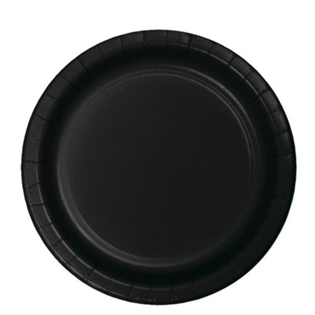 Hoffmaster Group 533260 7 in. Lunch Plate, Black - 8 per Case - Case of 12