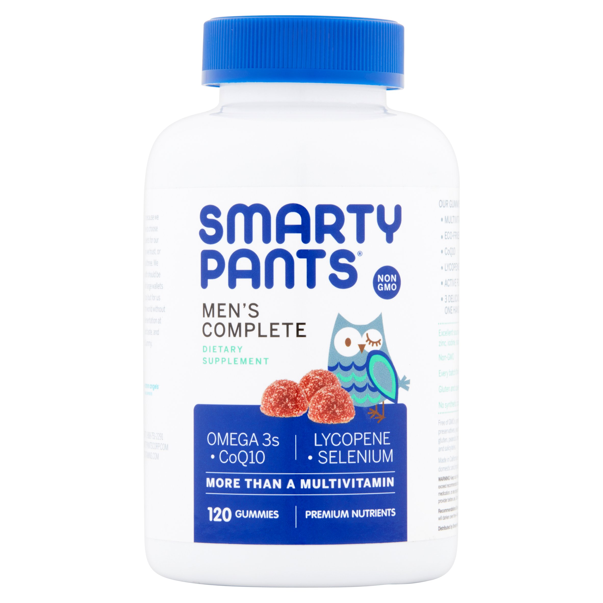 SmartyPants Men's Complete, Dietary Supplement 120 CT Gummies