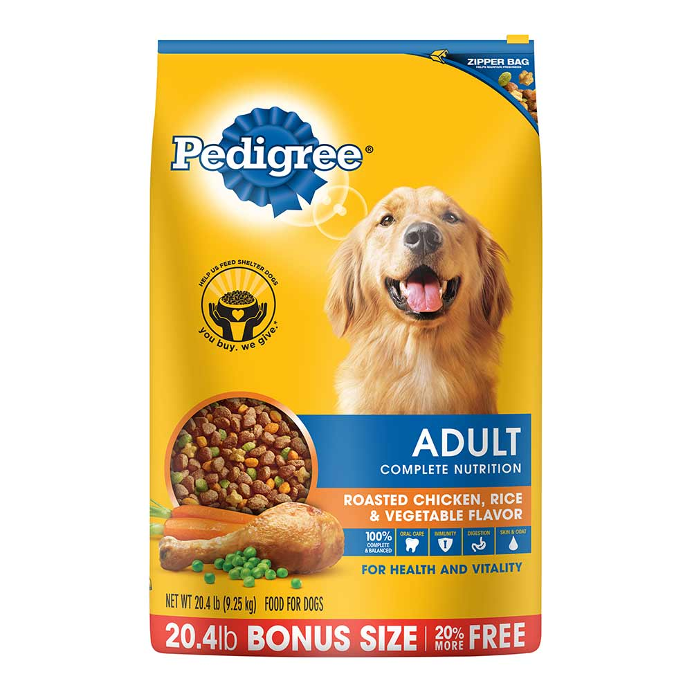 PEDIGREE Adult Chicken Flavor Dry Dog Food 20.4 Pounds