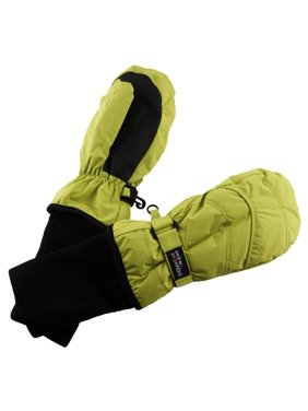 SnowStoppers Original Kids Winter Mittens (Lime, Extra Large)